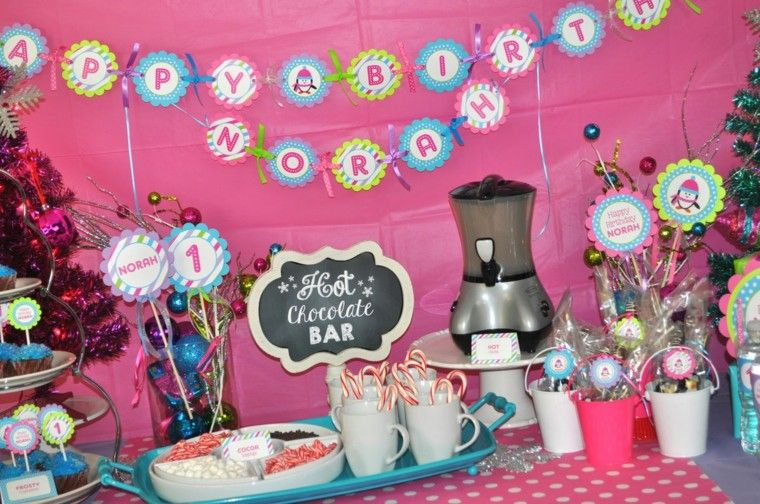 fiestas infantiles ideas bebe cumpleanos rosa bonito