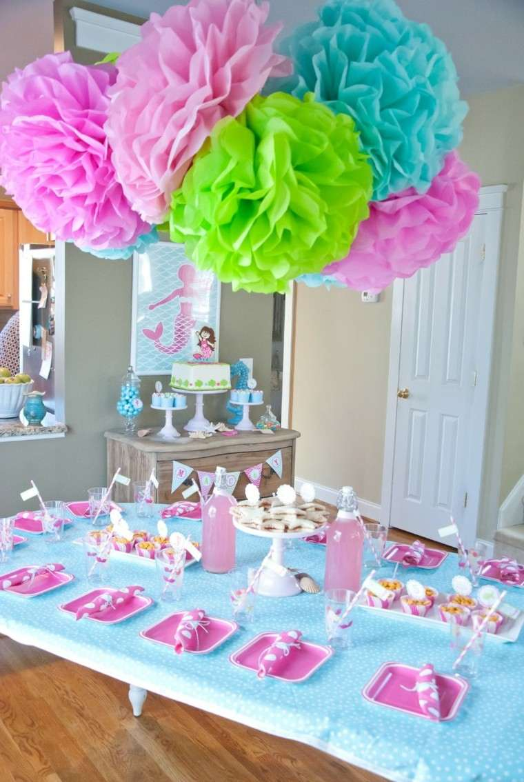 fiestas infantiles rosa azul decoracion chica ideas
