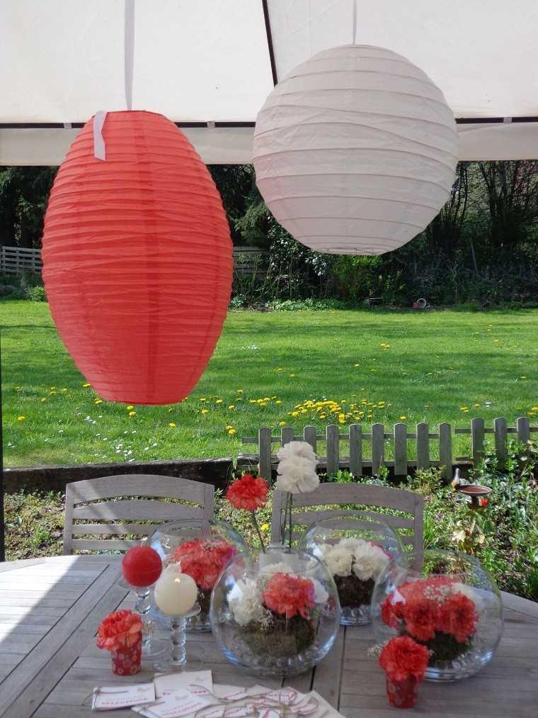 fista decoración faroles colores jardin