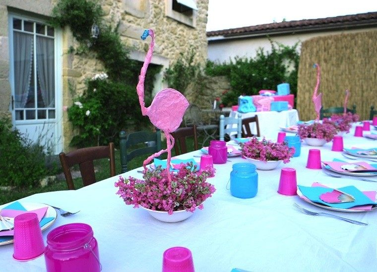 flameco fiesta decoracion rosa flores