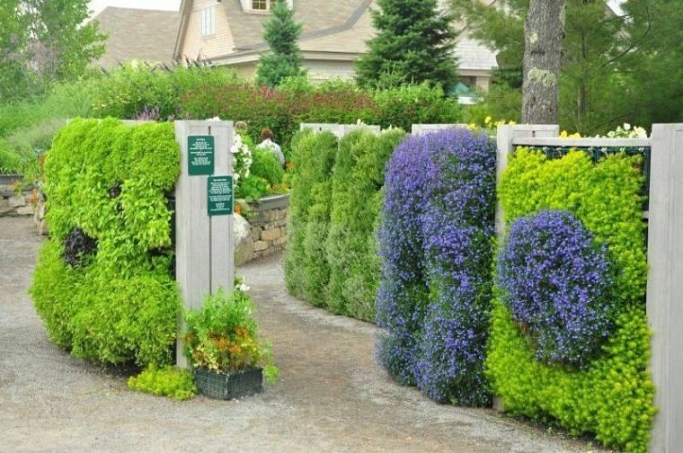 jardines verticales muros paredes flores