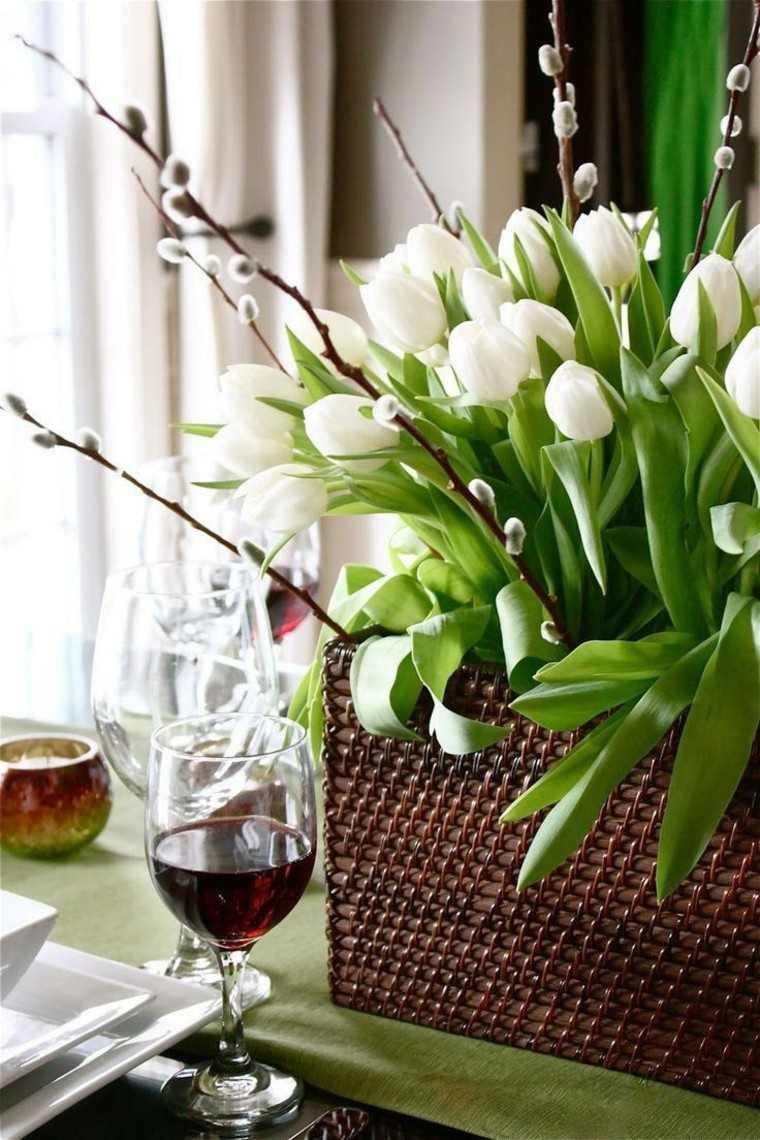 flores blancas maceta idea original moderna bonita