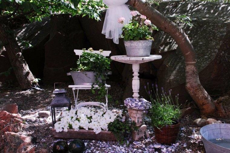 flores bonitas aire romantico jardin muebles rusticos ideas