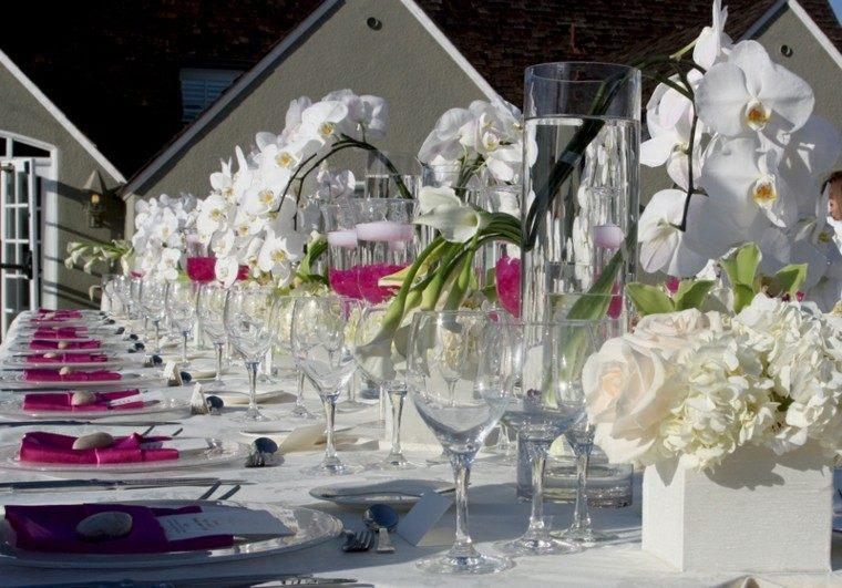 flores copas vasos diseño boda