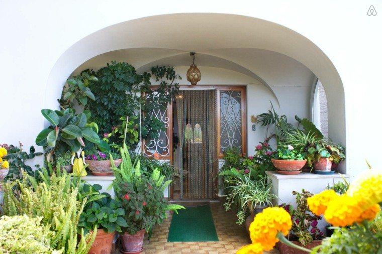 flores deoran casa entradas macetas bonitas
