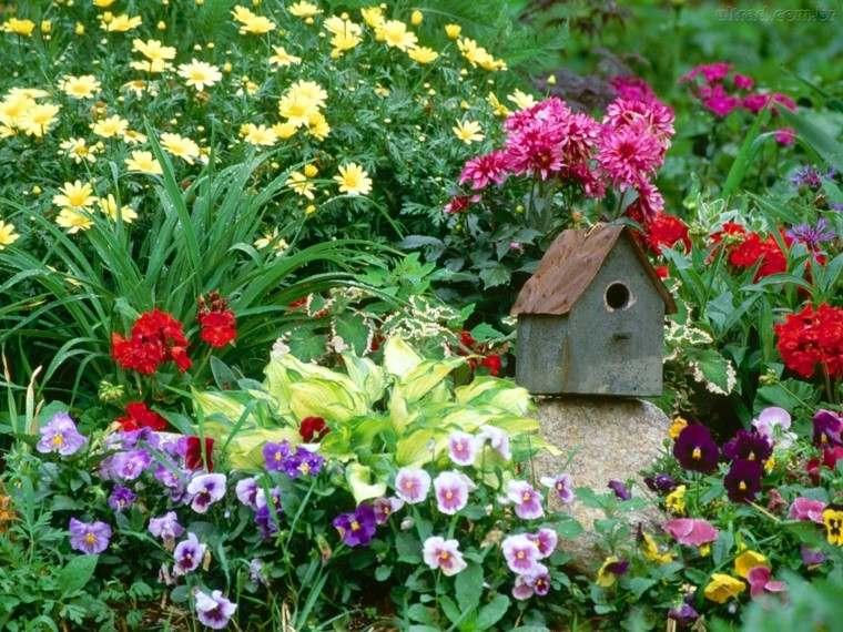 flores jardin casa pajaros ideas originales modernas casa pajaros