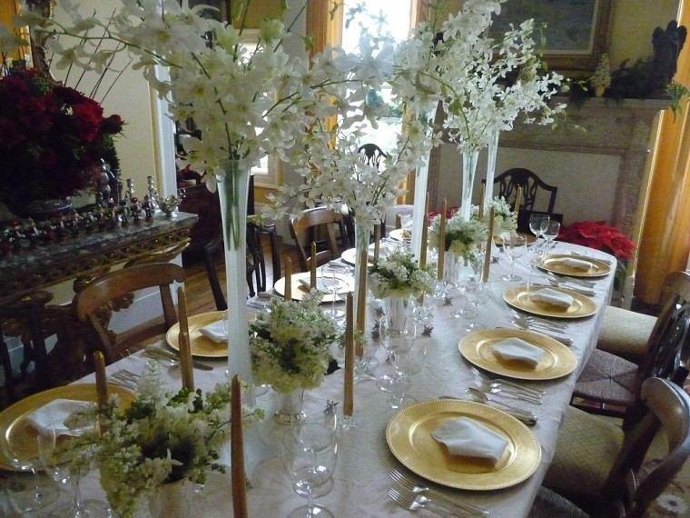 flores mesa decoración jarron flores