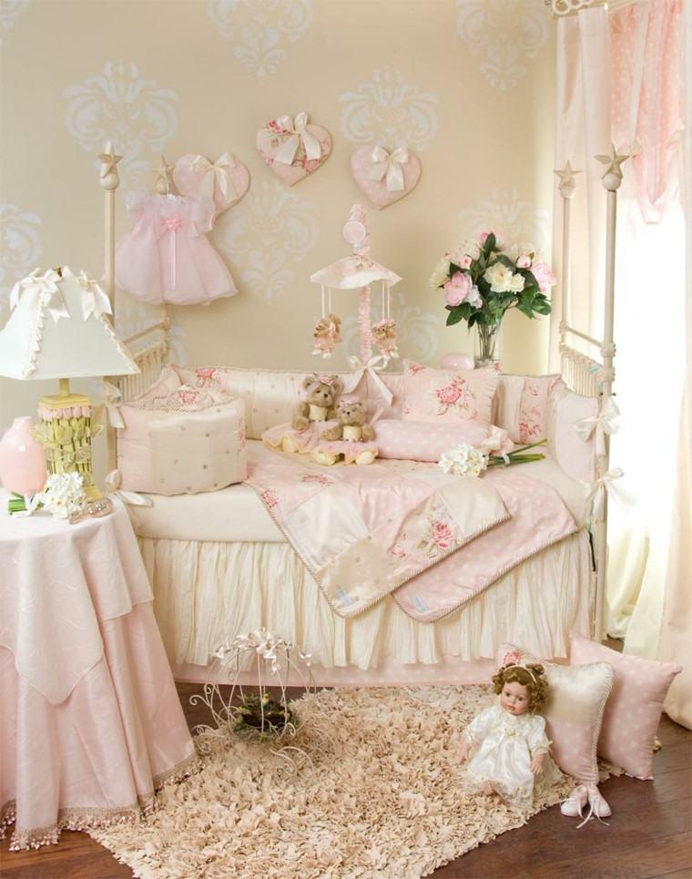 flores muñeca lampara cortinas rosado
