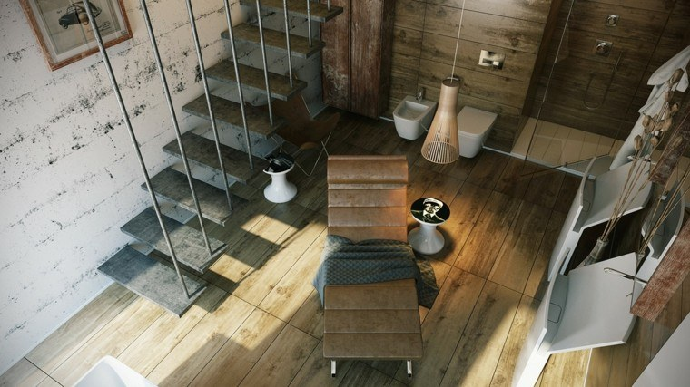 baño tumbona piel escaleras