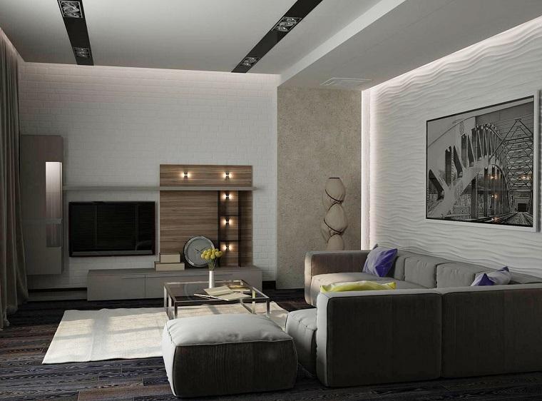 fotos originales ideas sofa grande estilo moderno beige