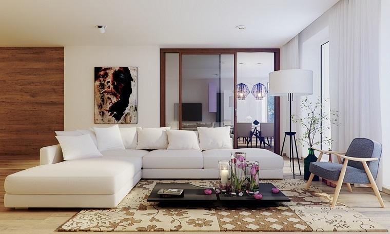 fotos originales sofa grande comoda blanca mesa baja negra ideas