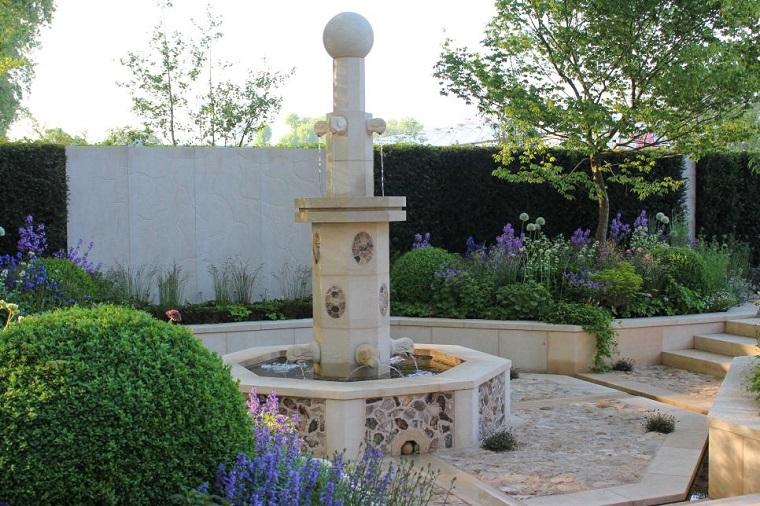 fuente decoraciones exteriores jardineras