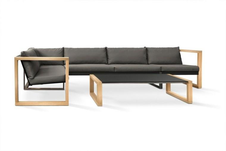 Sofas de dise o para los jardines modernos for Sillones de madera modernos