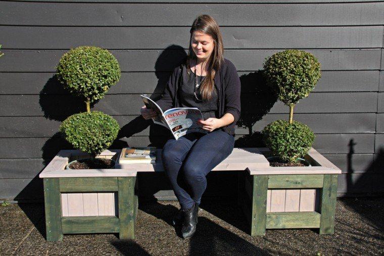 gordita banco revista plantas lectura