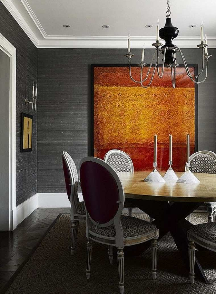 gris comedor decoracion diseño cuadro