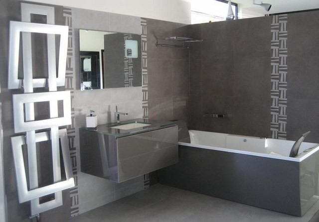 gris decoracion bañera metal diseño
