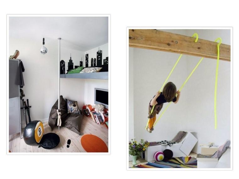 guarderia con creatividad cuerdas columpios lampara
