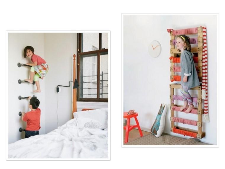 guarderia con creatividad escalera madera niños