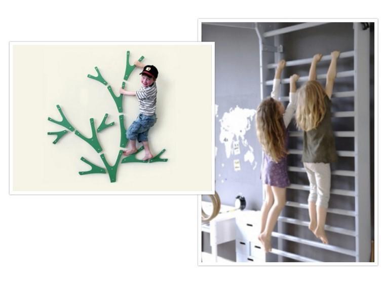 guarderia con creatividad niños escalada verde