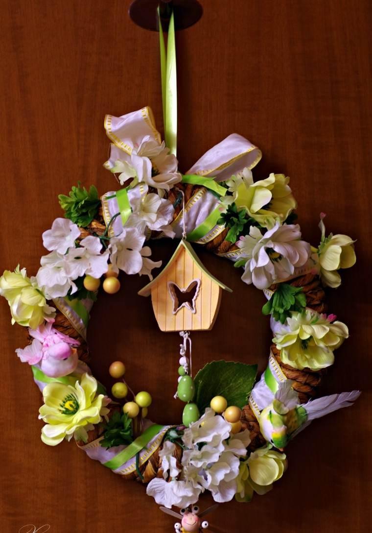 guirnalda flores decorar moderna casa ideas puerta