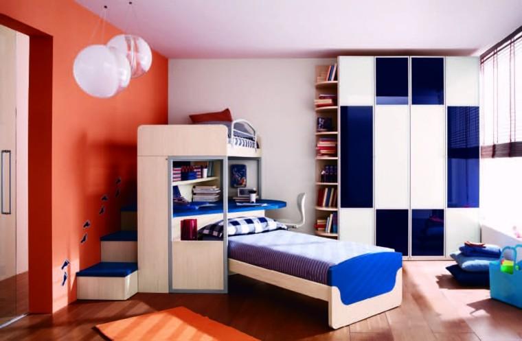 habitacion chocos azul blanco ideas ideas armario
