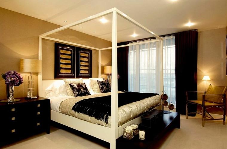 habitacion decoración negro oro