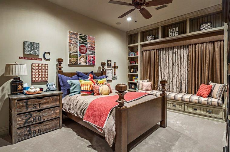 original habitación rústica juvenil
