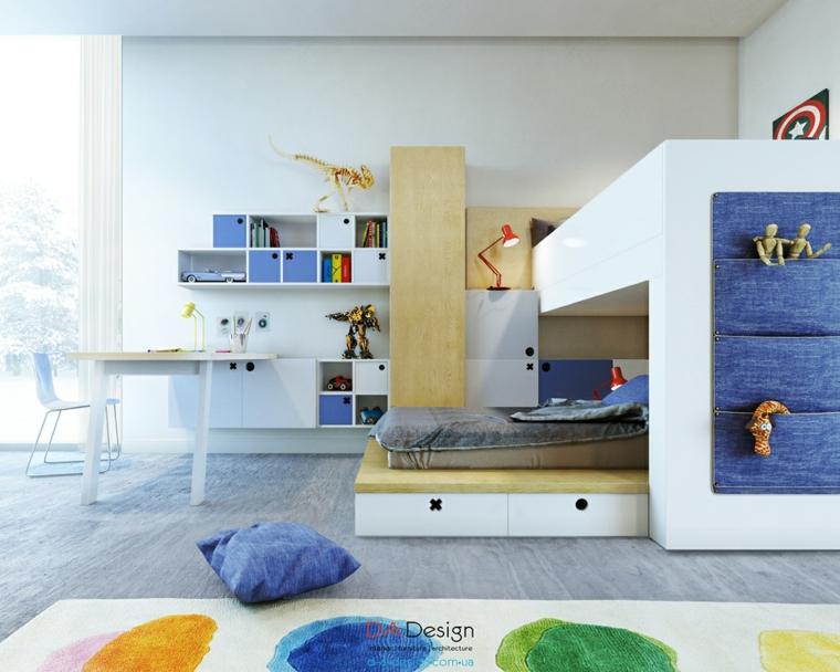 habitaciones infantiles juveniles diseño colores