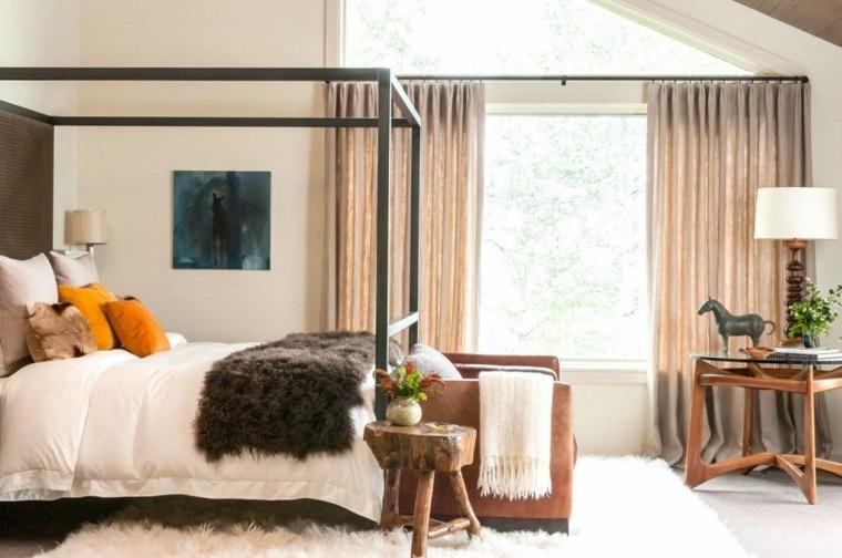 habitaciones modernas camas dosel metal