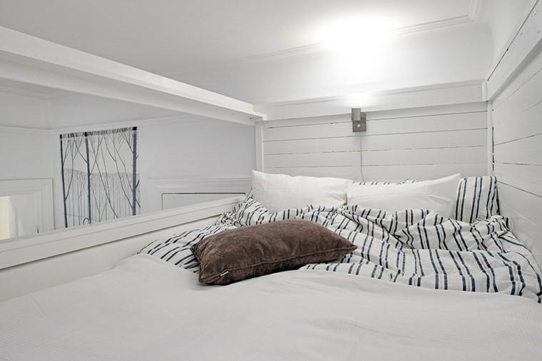 habitaciones modernas mucho color blanco