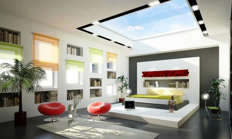 habitaciones modernas solterones ricos sillas