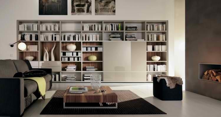 hoguera minimalista salon lamparas muebles