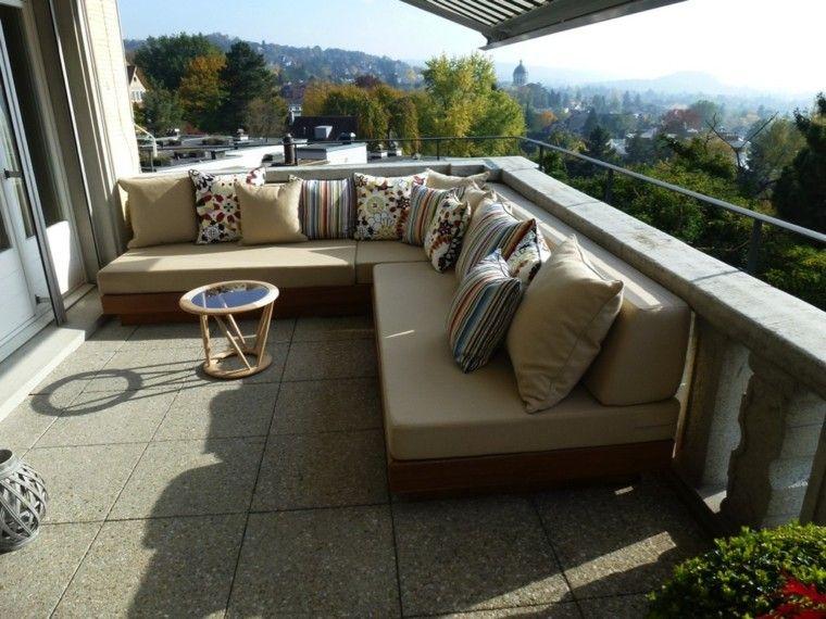 hora comodidad terraza cojines colores original interesantes