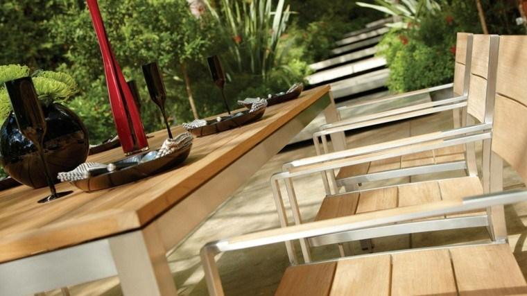 hora teca madera muebles ideas geniales