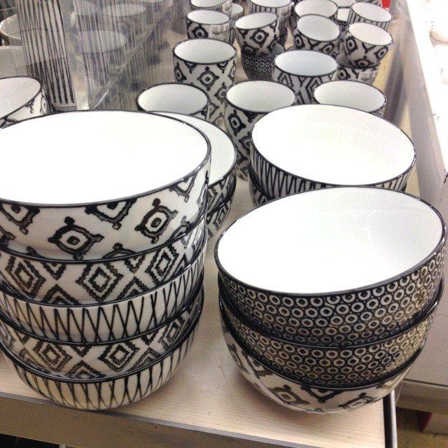 idea bol blanco negro bonito mesa idea