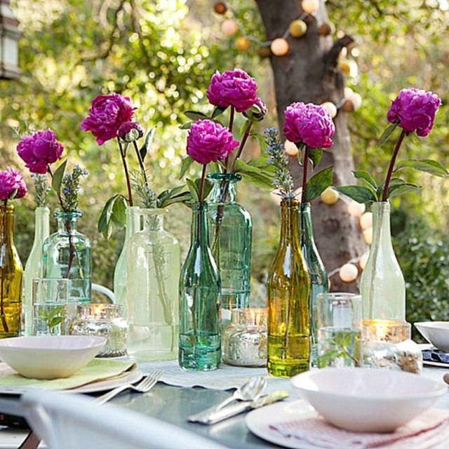 la primavera idea botellas cristal reciclar flores