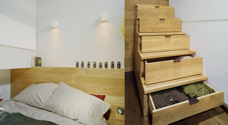 idea escalera armario madera espacio ideas