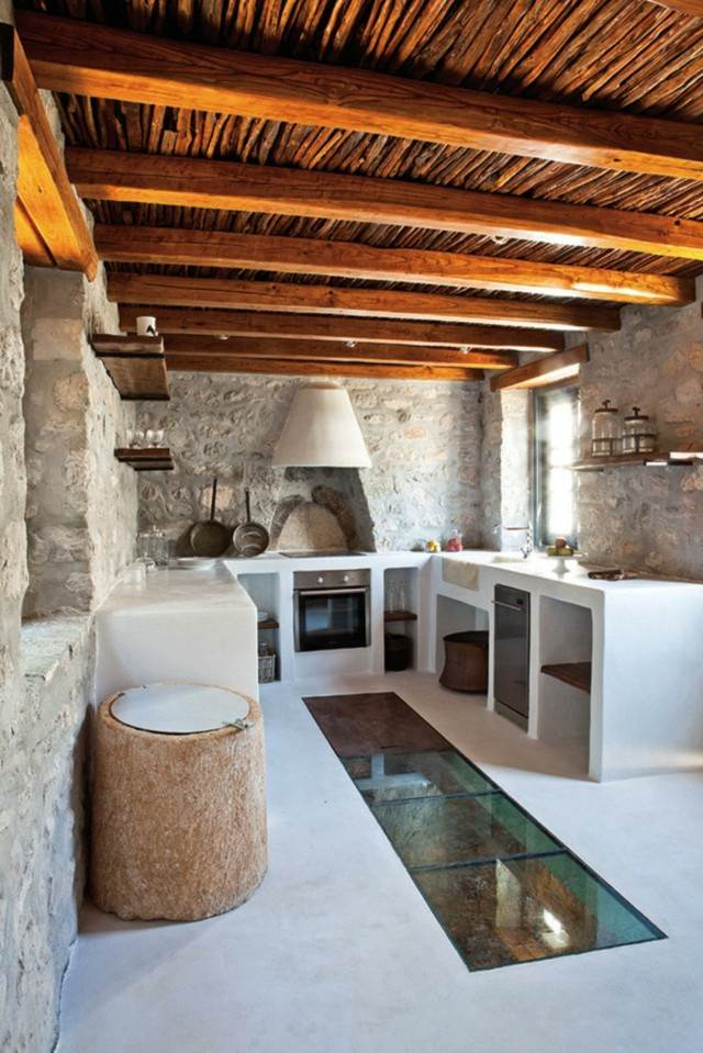 idea interesante diseño ocina techo madera