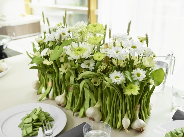 idea interesante combinacion flores ajo interesante verduras