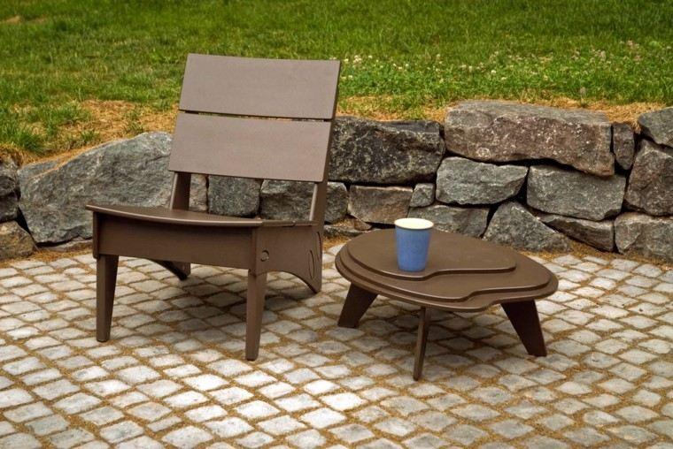 Mesas para el jard n esticas practicas modernas - Mesas decorativas ...