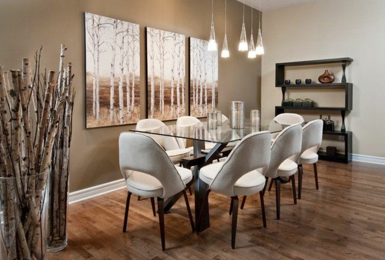 idea interesante madera floreros grandes cristal salon