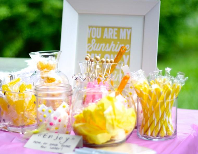 ideas amarillo cumpleanos chica bonita mesa