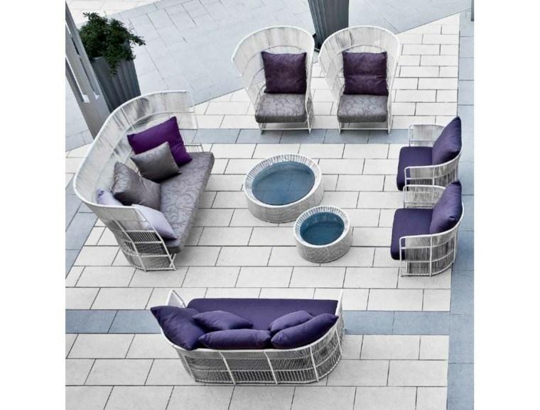 ideas blanco modernas jardin diseño muebles