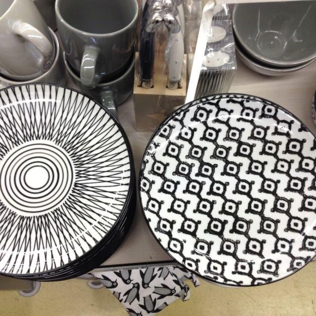 ideas blanco negro vajilla estilo moderna estampas