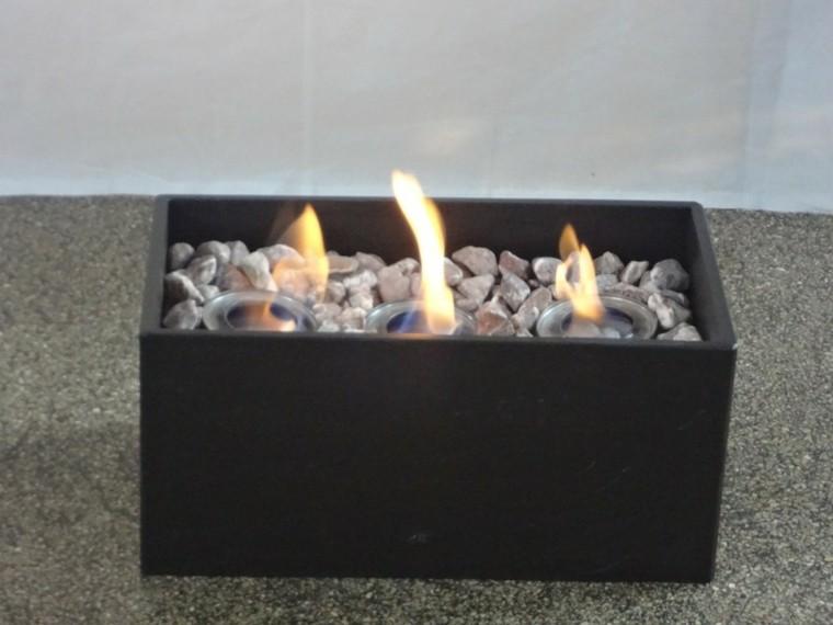 ideas cajas negro fuego zen original minimalista
