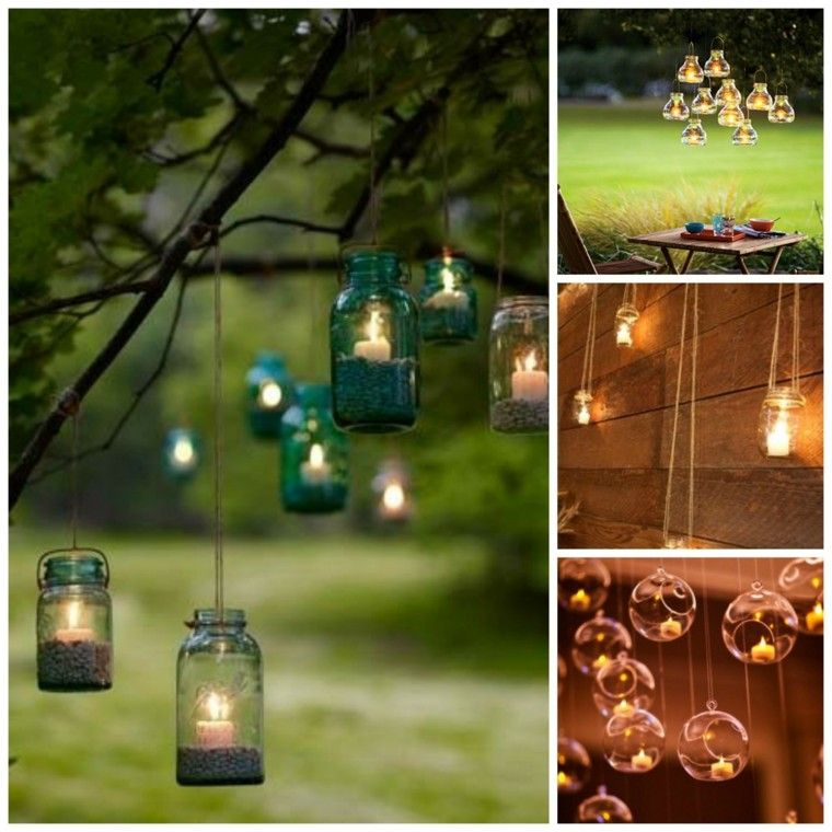 Velas para jardin velas para jardin balcn decorado con for Luces colgantes para jardin