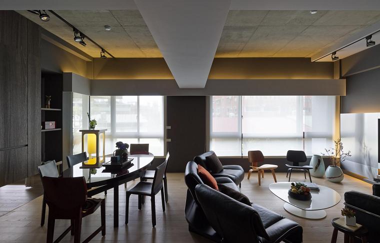 ideas comedor salon diseño abierto muebles madera