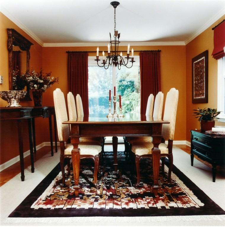 ideas creativas mesa sillas comedor estrecho moderna