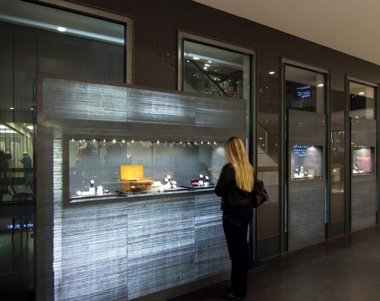 ideas diseño locales hormigon modernas transluciente