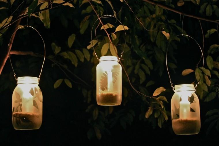 ideas diy linternas velas arbol